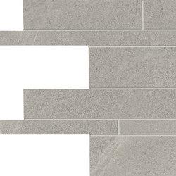 Stone Project Controfalda Mosaico Listelli Sfalsati Greige | Mosaici | EMILGROUP