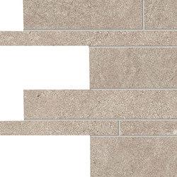 Stone Project Controfalda Mosaico Listelli Sfalsati Sand | Ceramic mosaics | EMILGROUP
