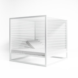 Daybed Raised Reclining with Fixed Slat | Gazebos | GANDIABLASCO