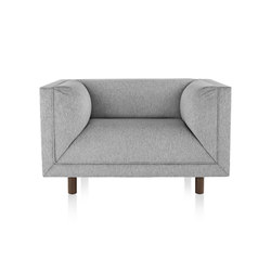 Rolled Arm Club Chair | Poltrone | Herman Miller