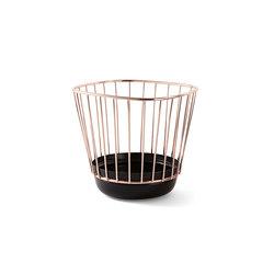 Canasta - Small black bowl & copper cage | Bowls | Incipit Lab srl