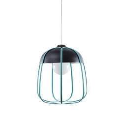 Tull - Pendant anthracite/turquoise | Suspended lights | Incipit Lab srl