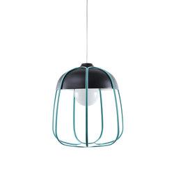 Tull - Pendant anthracite/turquoise | Iluminación general | Incipit Lab srl