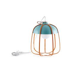 Tull - Desk/floor turquoise/orange | Iluminación general | Incipit Lab srl
