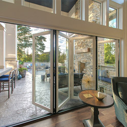 Folding Doors - Aluminum Wood | The Highland Couture, Lake Oswego | Baies vitrées | LaCantina Doors
