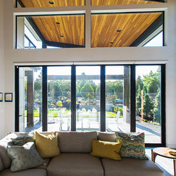 Folding Doors - Aluminum Wood | The Sandhill Crane, Lake Oswego | French doors | LaCantina Doors