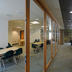 Folding Doors - Wood | Carlsbad Library | Partitions | LaCantina Doors