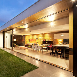 Multi-Slide Doors - Aluminum Wood | Brighton | Glass room doors | LaCantina Doors