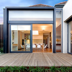 Multi-Slide Doors - Aluminum Wood | Malvern | Glass room doors | LaCantina Doors