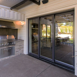 Multi-Slide Doors - Aluminum Wood | Street of Dreams, Lake Oswego | Glass room doors | LaCantina Doors
