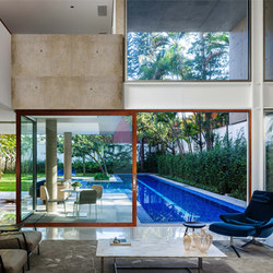 Multi-Slide Doors - Contemporary Clad | MG House | Glass room doors | LaCantina Doors