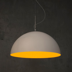 Mezza Luna blanc/orange | Suspensions | IN-ES.ARTDESIGN