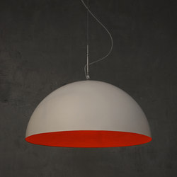 Mezza Luna blanc/rouge | Suspensions | IN-ES.ARTDESIGN