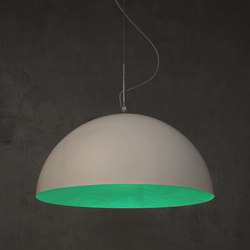 Mezza Luna blanc/turquoise | Suspensions | IN-ES.ARTDESIGN