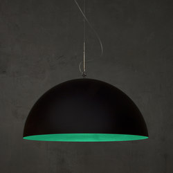 Mezza Luna black/turquoise | Suspended lights | IN-ES.ARTDESIGN