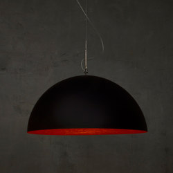 Mezza Luna noir/rouge | Suspensions | IN-ES.ARTDESIGN