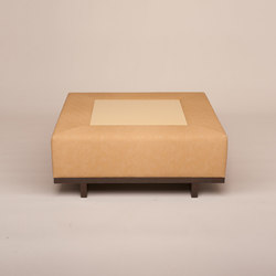 Oscar Upholstered Ottoman | Poufs | Cliff Young