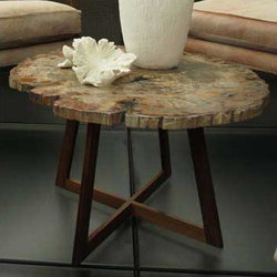 Petrified Wood End Table | Mesas auxiliares | Cliff Young