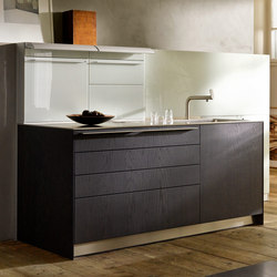 bulthaup b3 veneer and solid wood | Cucine a parete | bulthaup