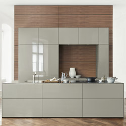 b3 veneer and solid wood | Cucine a parete | bulthaup