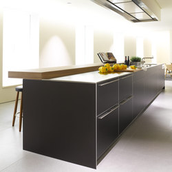 b3 stainless steel and aluminum | Cucine parete | bulthaup