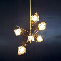 HARLOW Small Chandelier - Brass | General lighting | Gabriel Scott