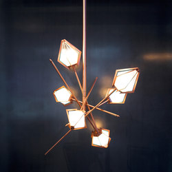 HARLOW Small Chandelier - Copper | Éclairage général | Gabriel Scott