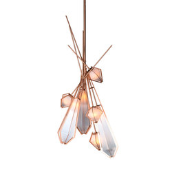 HARLOW Dried Flowers Chandelier - Copper | Éclairage général | Gabriel Scott