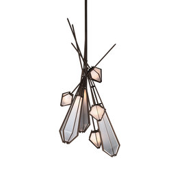 HARLOW Dried Flowers Chandelier | Suspended lights | Gabriel Scott