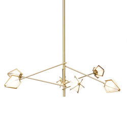 HARLOW Spoke Chandelier - Brass | General lighting | Gabriel Scott