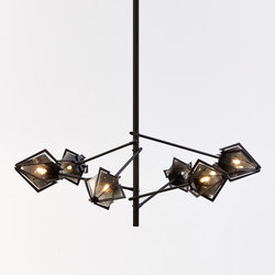 HARLOW Spoke Chandelier | Suspended lights | Gabriel Scott