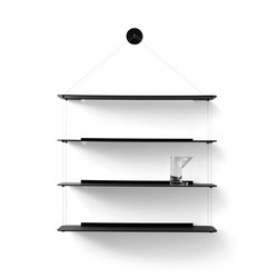 Wire Bookcase black oak | Shelving | Karakter