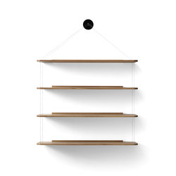 Wire Bookcase oak | Shelves | Karakter Copenhagen