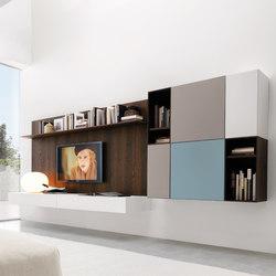 Living E45 comp.020 | Pareti attrezzate | Euromobil