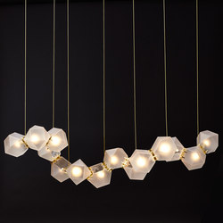 WELLES GLASS Long Chandelier | Lámparas de suspensión | Gabriel Scott