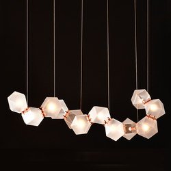 WELLES GLASS Long Chandelier | Iluminación general | Gabriel Scott