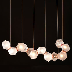 WELLES GLASS Long Chandelier | Pendelleuchten | Gabriel Scott