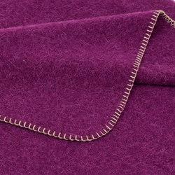 Alina Blanket aubergine | Plaids / Blankets | Steiner