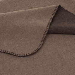 Luisa Double blankets mocca | Couvertures | Steiner