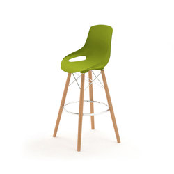 Elliot bar stool with tapered wood legs | Bar stools | ERG International