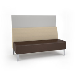 Malibu Straight Unit with Privacy Panel | Elementi di sedute componibili | ERG International