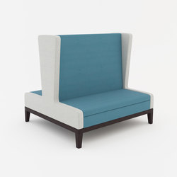 Symphony two seat high back banquette back to back | Sitzbänke | ERG International
