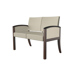 Westlake wood two seat lounge | Waiting area benches | ERG International