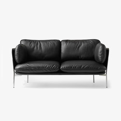 Cloud Two Seater LN2 black leather | Canapés d'attente | &TRADITION
