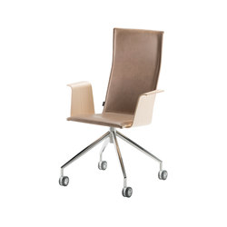 Duo | conference chair with armrests, low | Sillas | Isku