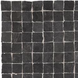 Stonework ardesia nera mosaico burattato | Ceramic tiles | Ceramiche Supergres
