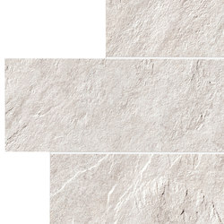 Stonework quarzite bianca muretto | Piastrelle ceramica | Ceramiche Supergres