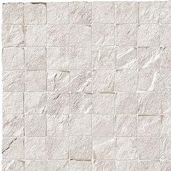Stonework quarzite bianca mosaico burattato | Ceramic tiles | Ceramiche Supergres