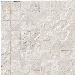 Stonework quarzite bianca mosaico burattato | Bodenfliesen | Ceramiche Supergres