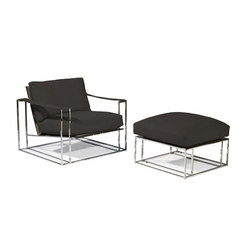 Sling Chair & Ottoman | Poltrone | Cliff Young